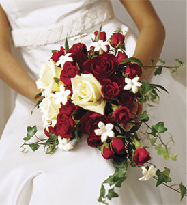 Red Romance Wedding Bouquet